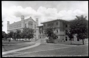 Primary view of object titled 'Monnet Hall and Carnegie Building  at the University of Oklahoma in Norman, Oklahoma'.