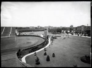 Primary view of object titled 'North End of Football Field  at the University of Oklahoma in Norman, Oklahoma.'.