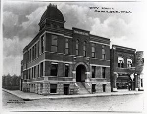 Primary view of object titled 'City Hall in Okmulgee, Oklahoma'.