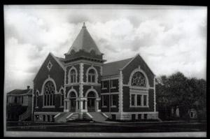 Primary view of object titled 'Central Methodist Church in Rogers, Oklahoma'.