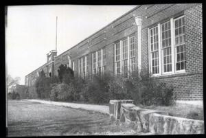 Primary view of object titled 'Junior and Senior High School in Bowlegs, Oklahoma'.