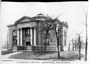Primary view of object titled 'Carnegie Library in Shawnee, Oklahoma'.