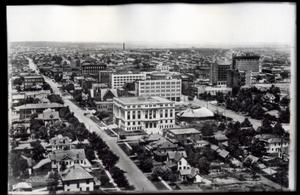 Primary view of object titled 'Aerial View of Tulsa Looking North'.