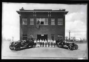 Primary view of object titled 'Fire Station in Wilson, Oklahoma'.