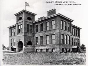 Primary view of object titled 'West Side School in Okmulgee, Oklahoma'.
