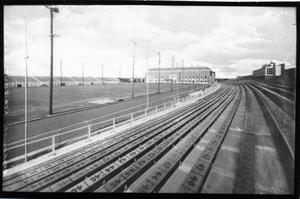 Primary view of object titled 'Football Stadium and Field house at Oklahoma State University in Stillwater, Oklahoma'.
