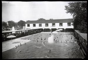 Primary view of object titled 'Vendome Plunge Swimming Pool in Sulphur, Oklahoma'.