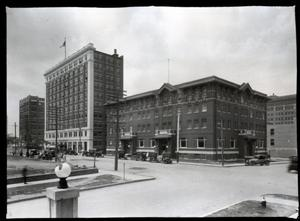 Primary view of object titled 'The YMCA and Palace Buildings in Tulsa'.
