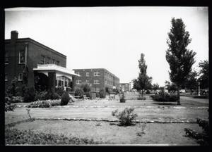 Primary view of object titled 'President's Home and Wheatly Hall at Langston University in Langston, Oklahoma'.