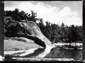 Primary view of object titled 'Near Tishomingo on the Pennington, Indian Territory'.