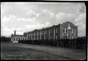 Primary view of object titled 'Infirmary Building at the University of Oklahoma in Norman, Oklahoma'.