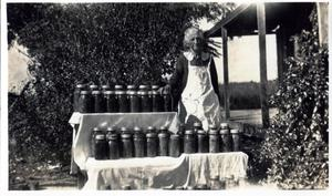 Primary view of object titled 'Mrs. Fannie Adams and Canned Goods'.