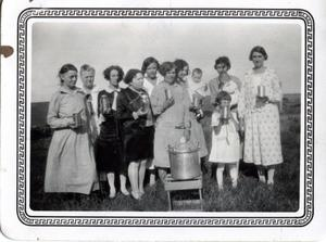 Primary view of object titled 'Canning Demonstration at Mrs. Carmen's Home'.