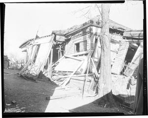 Primary view of object titled 'Home Damaged by Gas Explosion'.