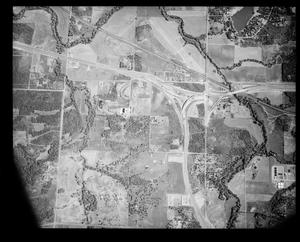 Primary view of object titled 'Aerial View of Construction of I-35'.