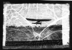 Primary view of object titled 'Frank Champion Starting a Flight with His Bleriot Monoplane'.
