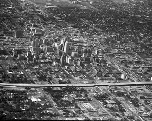 Primary view of object titled 'Aerial View of Downtown Oklahoma City'.