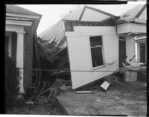 Primary view of object titled 'Damaged House at 220 Northeast 3rd Street'.