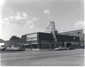 Primary view of object titled 'City Plymouth Dealership in Oklahoma City'.