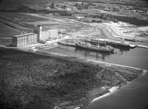 Primary view of object titled 'Grain Elevator Loading Ships at Houston'.