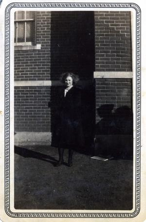 Primary view of object titled 'Woman at Wanette High School in Pottawatomie County, Oklahoma'.