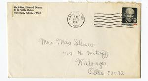 Primary view of object titled 'Envelope from TB Ferguson Collection'.