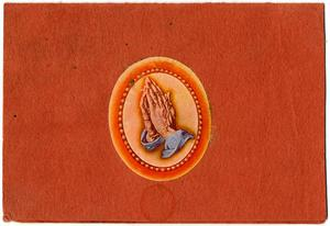 Primary view of object titled 'Card with hand on them'.