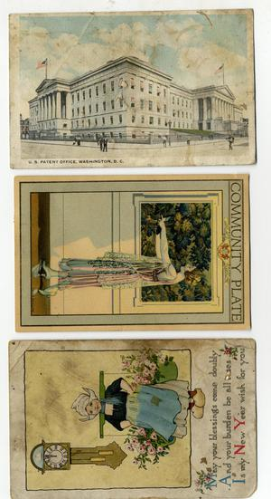 Primary view of object titled 'Three postcards found in the Tb Ferguson Home paperwork'.