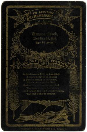 Primary view of object titled 'funeral card'.