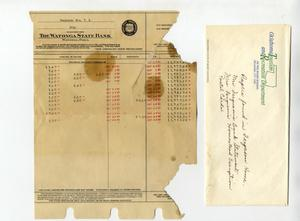 Primary view of object titled 'Bank Statement'.