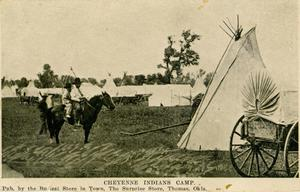Primary view of object titled 'Cheyenne Indian Camps'.