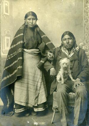 Primary view of object titled 'Portrait Photo of Two Cheyenne Indians'.
