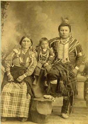 Primary view of object titled 'Chief Joseph and Family, Nez Perces Indians'.