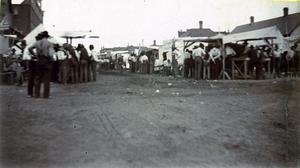 Primary view of object titled 'Land Opening in 1901 at El Reno'.