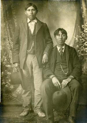 Primary view of object titled 'Portrait Photo of Two Cheyenne Men'.