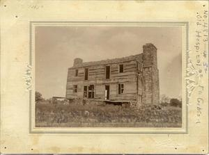 Primary view of object titled 'Old Hospital at Fort Gibson, Oklahoma'.