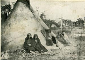 Primary view of object titled 'Arapaho Camp at Anadarko, Oklahoma'.