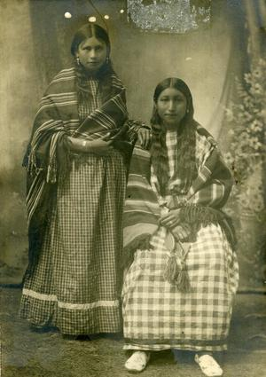 Primary view of object titled 'Katie Haag and Jessie Bighawk, Cheyenne Women'.