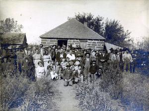 Primary view of object titled 'Rural Reunion Near Wainwright, Oklahoma'.