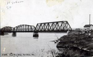 Primary view of object titled 'Grand River Bridge at Fort Gibson'.