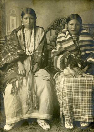 Primary view of object titled 'Portrait Photo of Two Cheyenne Women'.