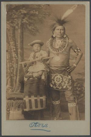 Primary view of object titled 'Otoe Man and Child'.