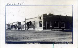 Primary view of object titled 'Waukomis, Oklahoma, Street Scene'.