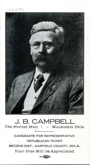 Primary view of object titled 'J. B. Campbell'.