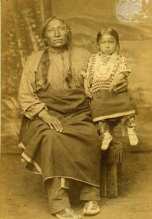 Primary view of object titled 'Chief Old Crow and Child, Cheyennes'.
