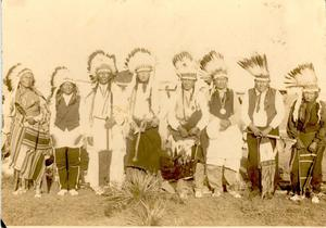 Primary view of object titled 'Group Photo of Cheyenne Chiefs at Cantonment'.