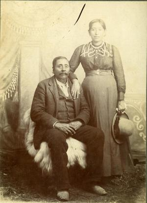 Primary view of object titled 'Amos C. Childers and His Wife, Coweta'.
