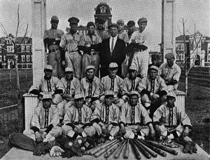 Primary view of object titled 'Baseball Squad at Phillips University'.