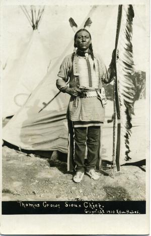 Primary view of object titled 'Thomas Crow, Sioux Chief'.