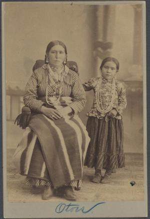 Primary view of object titled 'Otoe Woman and Child'.
